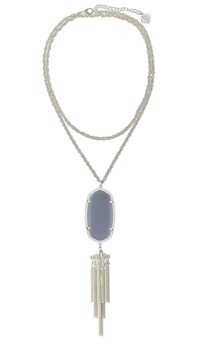 Rayne Necklace in Slate set in Rhodium by Kendra Scott
