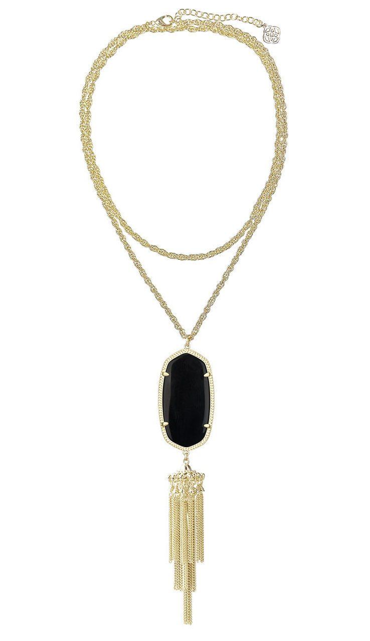Black Rayne Pendant Necklace by Kendra Scott