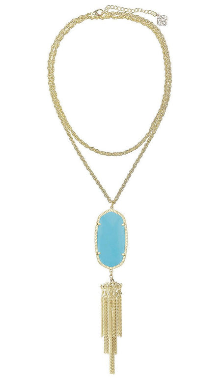 Annie Multi-Chain & Turquoise Necklace