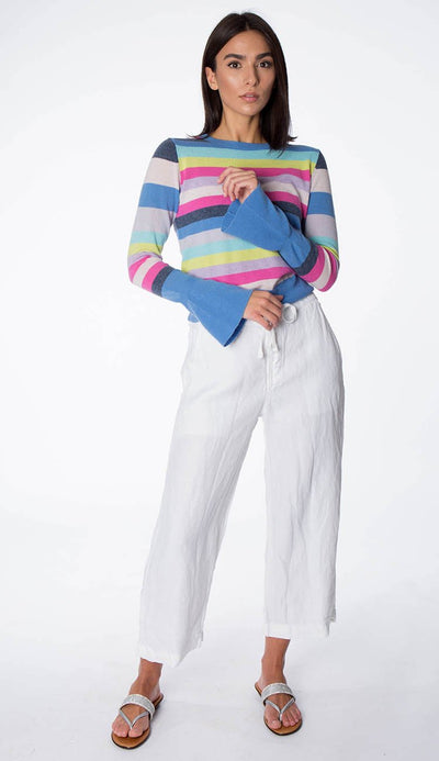 bell sleeve sweater with Riley linen pant
