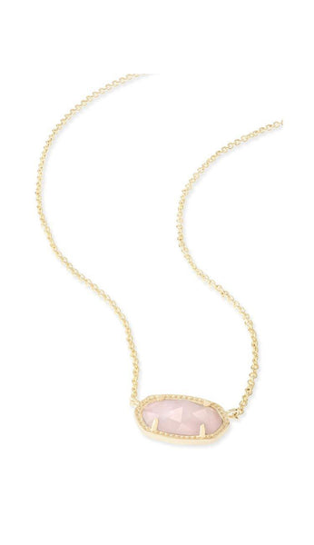 Rose Quartz Elisa Necklace by Kendra Scott