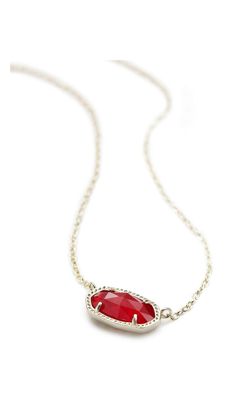 Ruby Red Elisa necklace by Kendra Scott