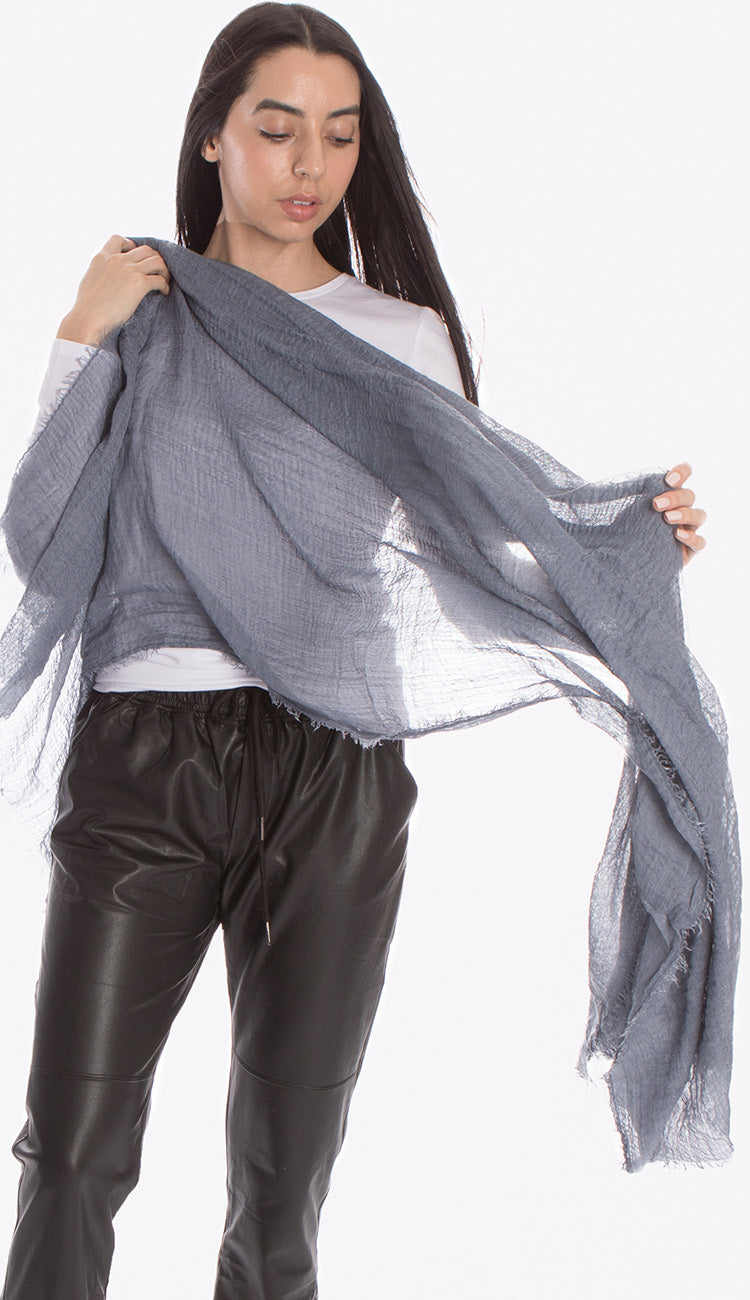 ruby zaar boho shawl scarf denim blue