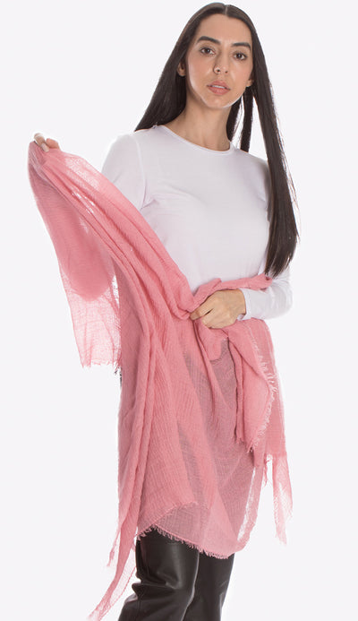 ruby zaar boho shawl scarf light pink