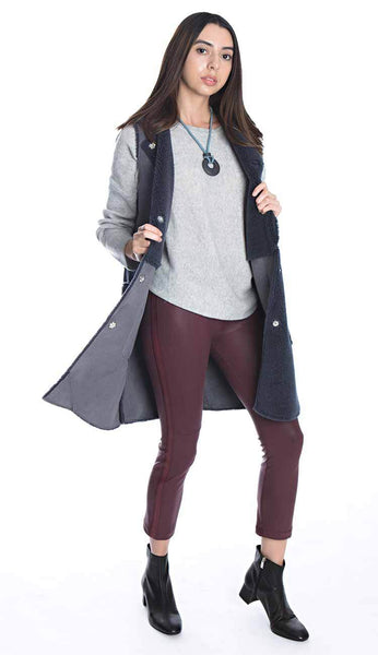 shearling & suede vest by rino and pelle with gemma leggings