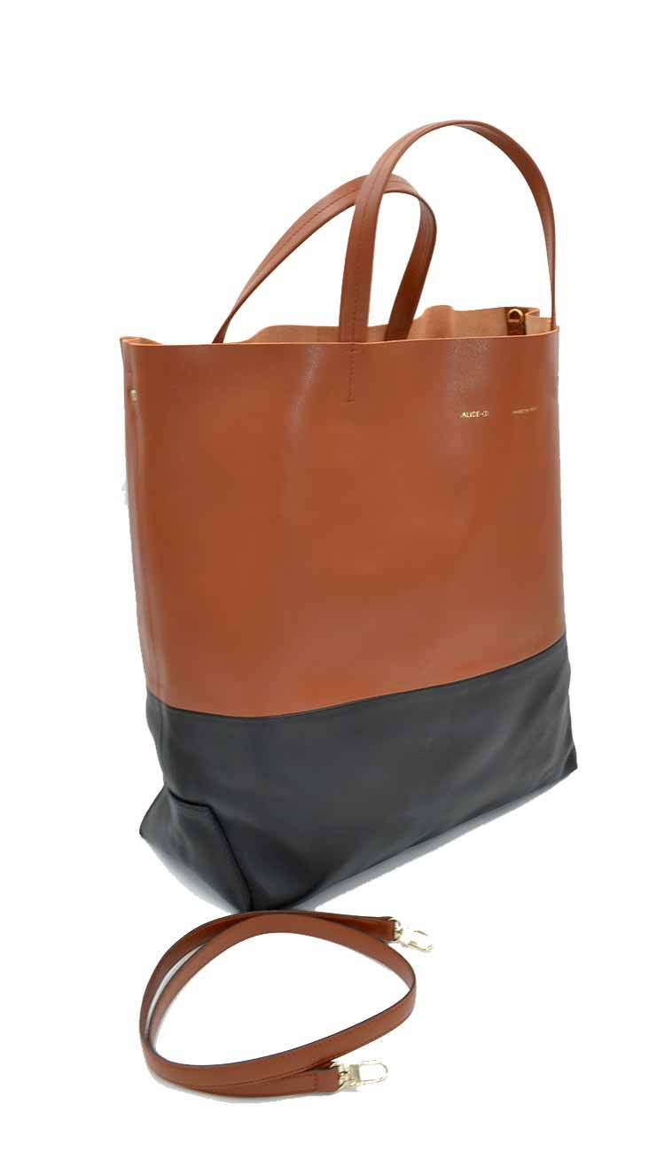 alice d siena and black tote side view