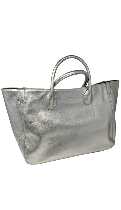 Beck Medium Tote - 925 Silver Leather - Paula & Chlo