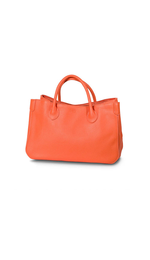 beck small tote in marie orange