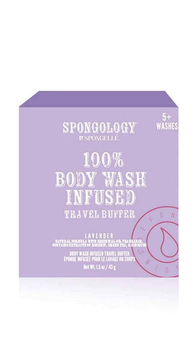 spongology lavender travel buffer body wash infused