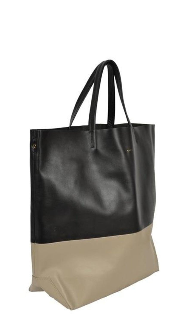 Black and Taupe Milano Tote