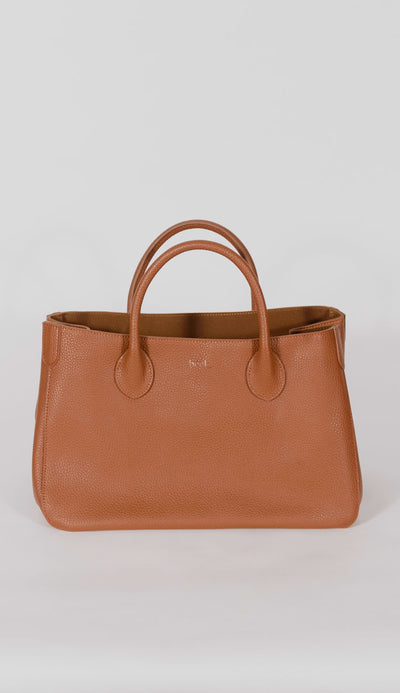 beck bag in teddy brown size small