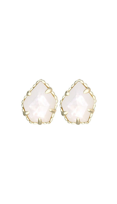 Ivory Mother of Pearl tessa stud earrings by kendra scott