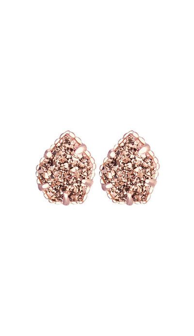 Rose Gold Drusy Tessa Earrings by Kendra Scott