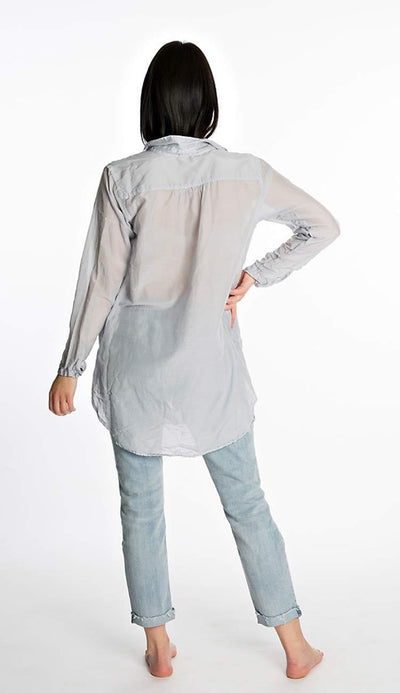 teton silk shirt in shadow blue by cp shades back view