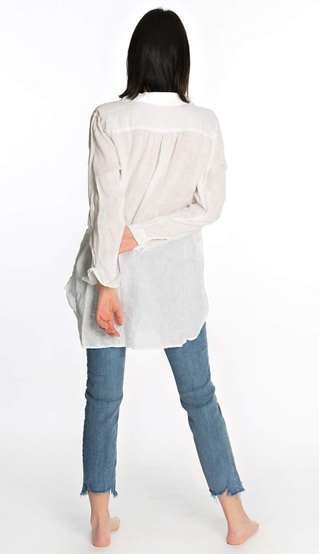 Teton Linen Shirt in white by CP Shades back view