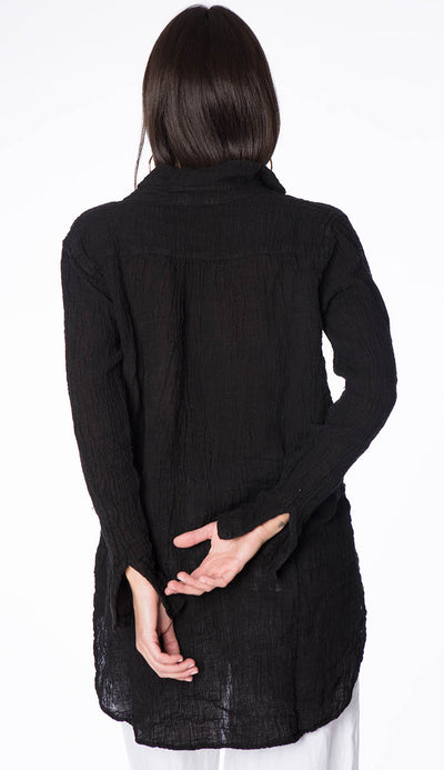 teton gauze black tunic back view