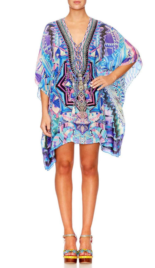 Threads of Cosmos Lace Up Kaftan by Camilla.