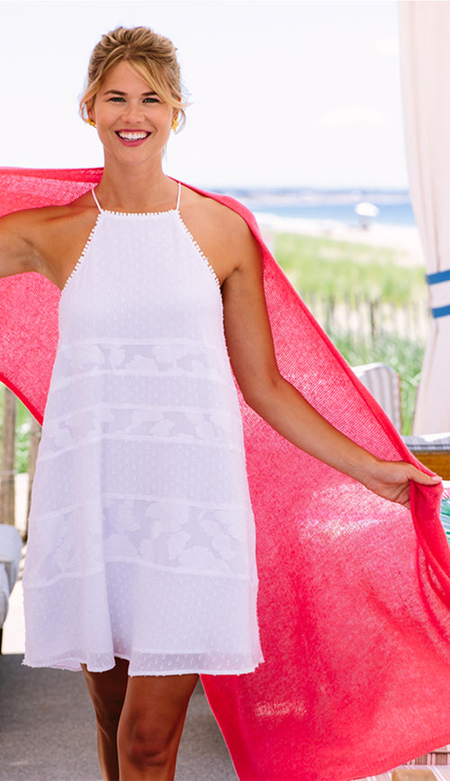light weight travel wrap in Coral Reef  claudia nichole