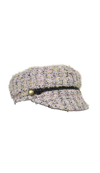 Elyse Tweed Marine Cap in Pink by Eugenia Kim