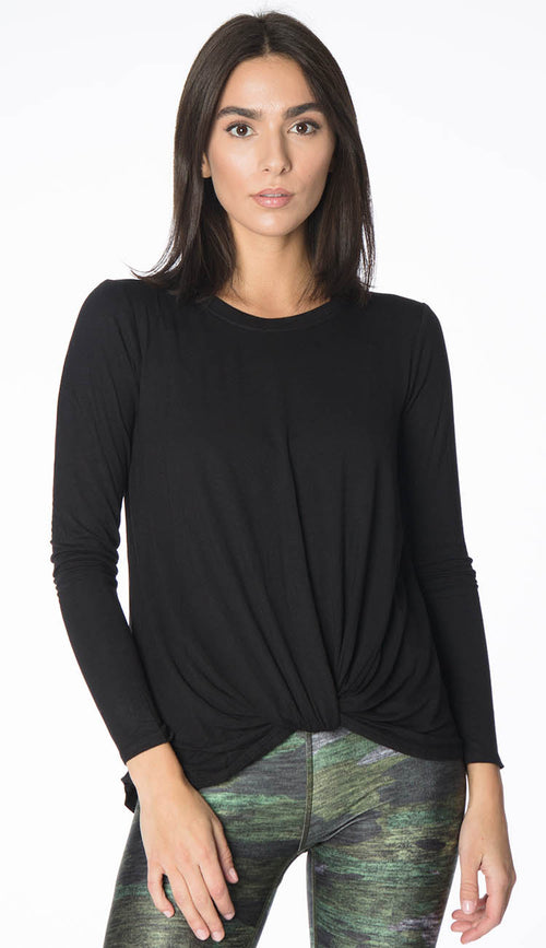 twist front long sleeve shirt by Terez