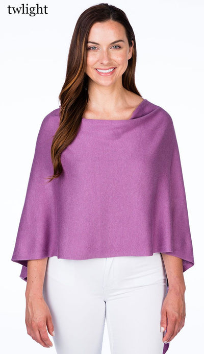 caroline grace cotton cashmere topper in twlight