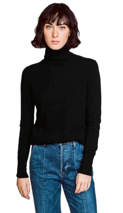 essential turtleneck black cashmere white and warren