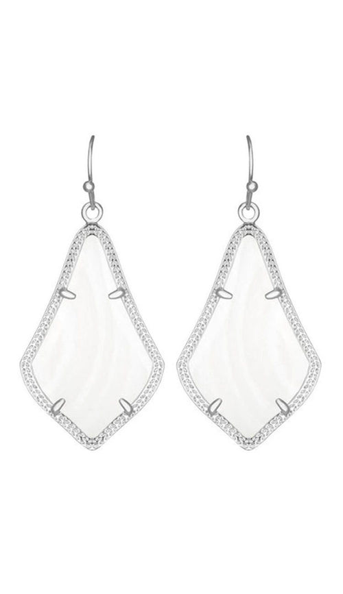 Kendra Scott Alex Earrings in White Pearl