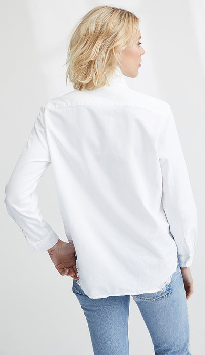 elieen stonewashed italian denim in white back view