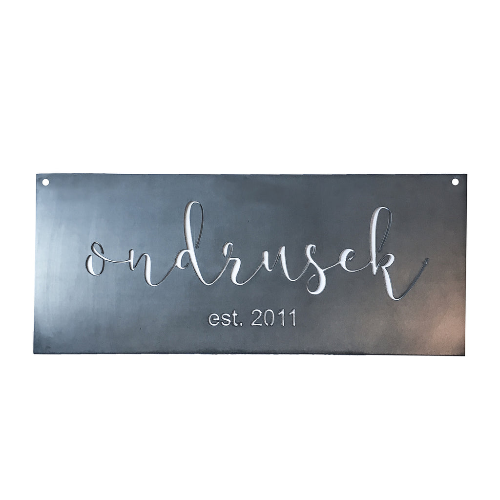 Custom Large Rectangle Plaque