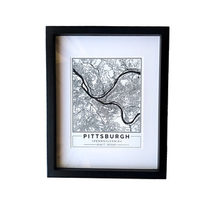 Pittsburgh Street Map Wall Art