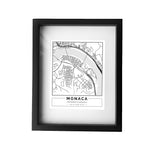 Street Map Framed Print