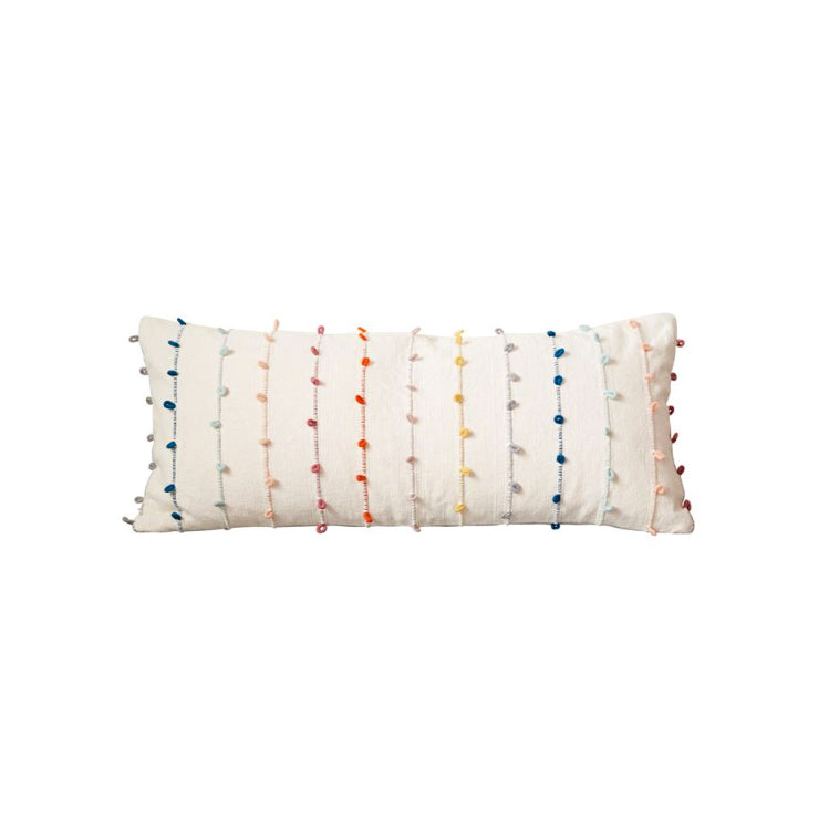 Multi Color Knot Long Pillow