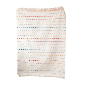 Multi Color Knot Cotton Throw