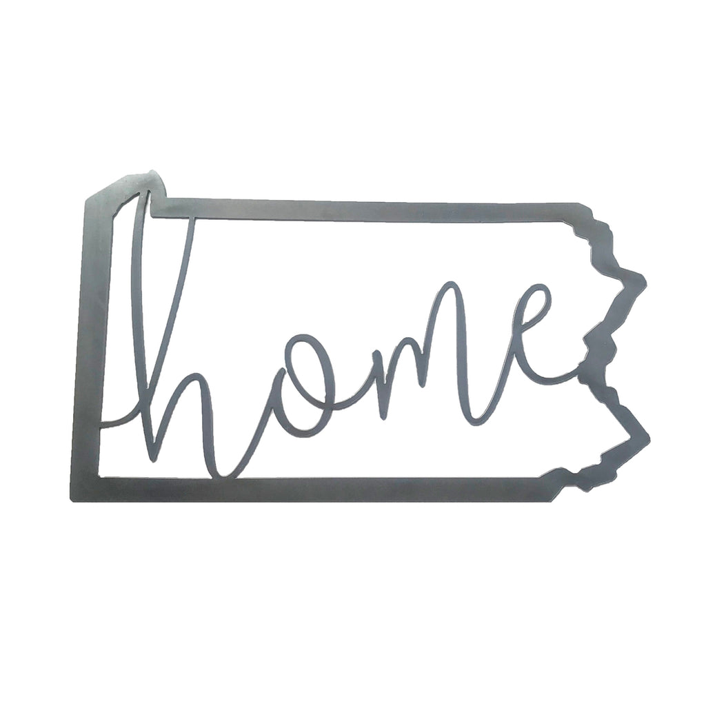 Home Pa Outline Steel Sign