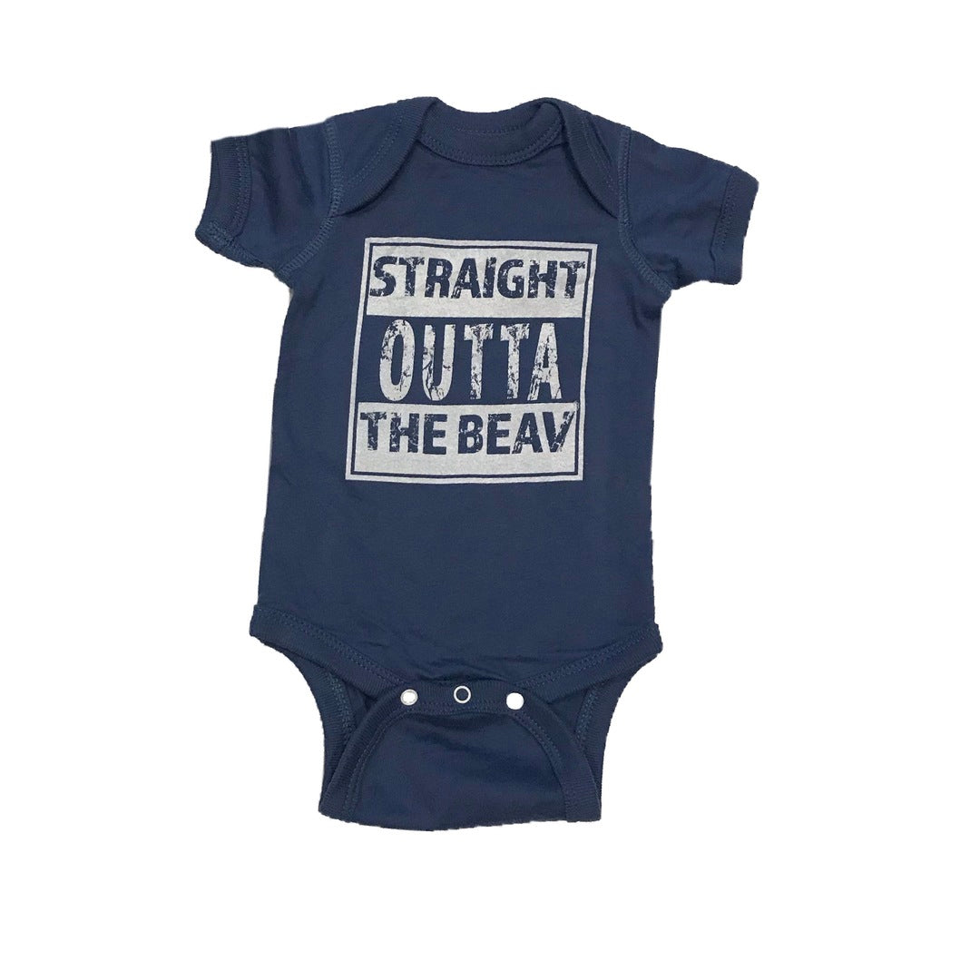 Straight Outta The Beav Onesie (Blue)