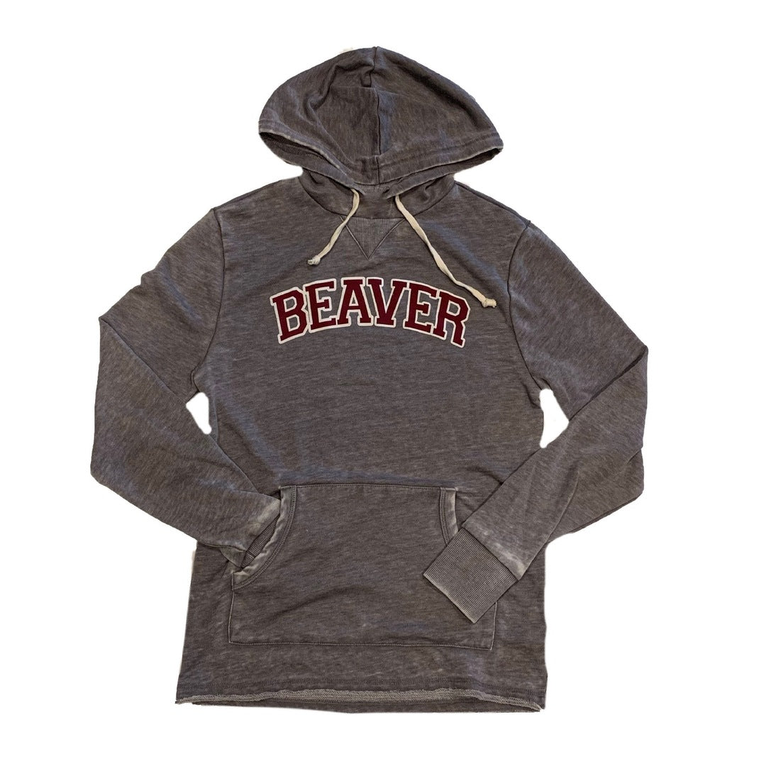 Adult Unisex Maroon and Gray Beaver Hoodie