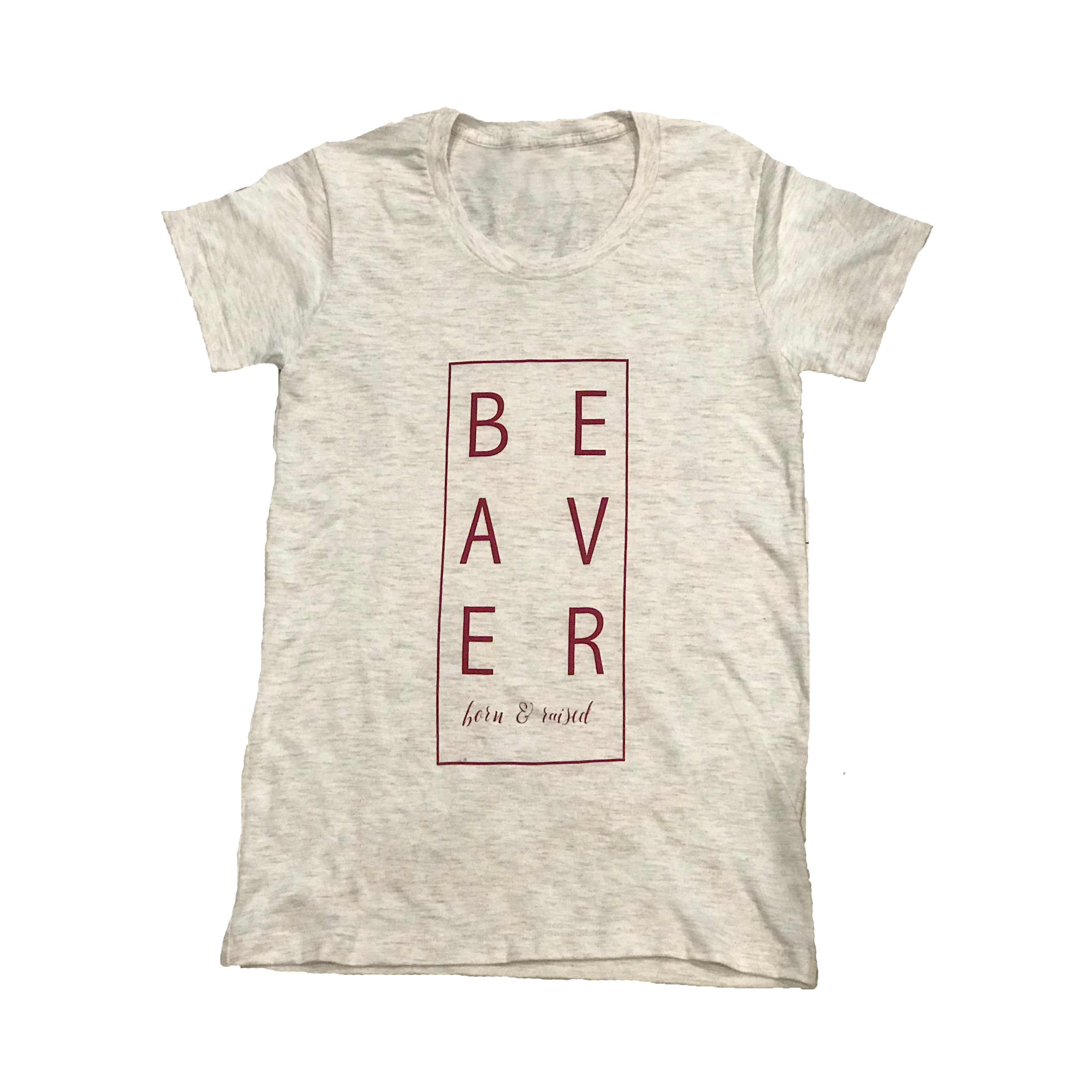 Womens Beaver Born and Raised Tee