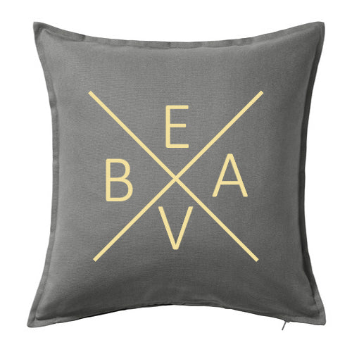 "Beav ""X"" Throw Pillow"