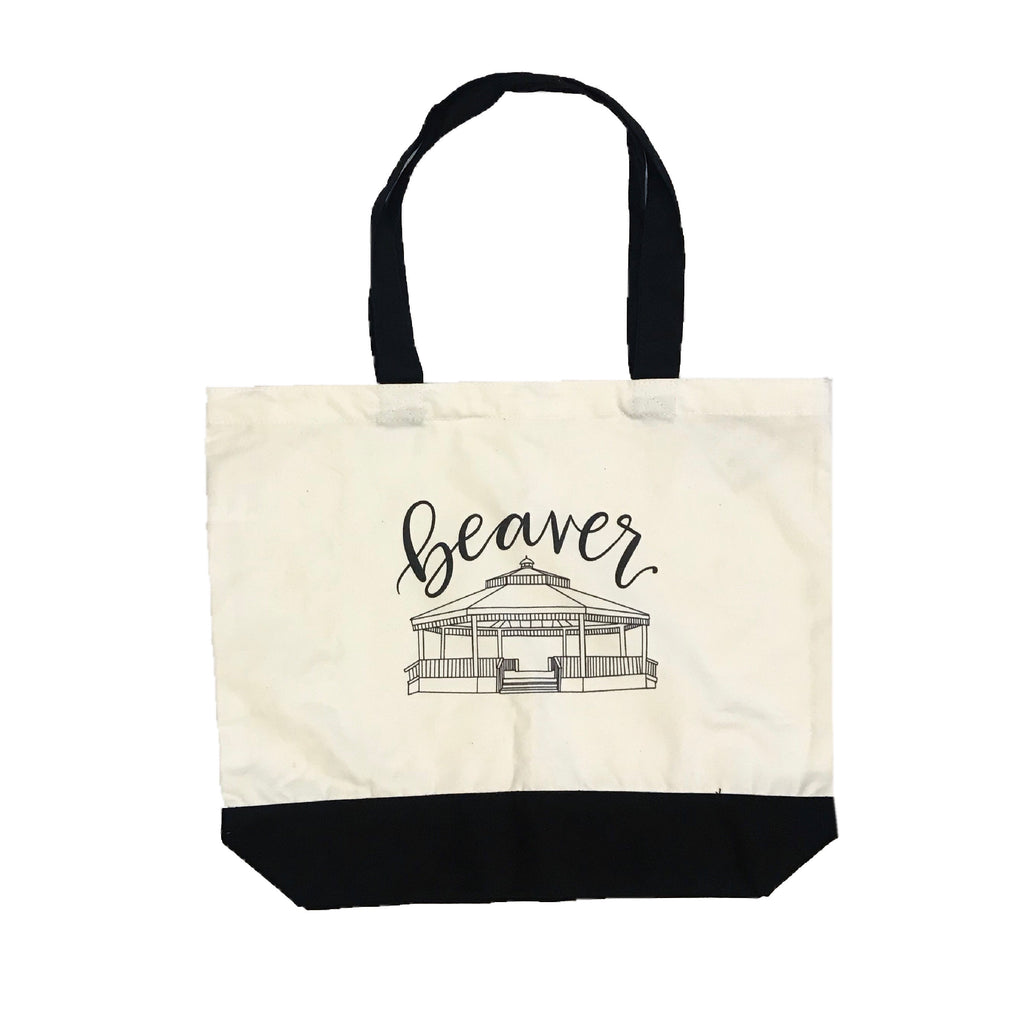 Beaver Gazebo Two Tone Tote