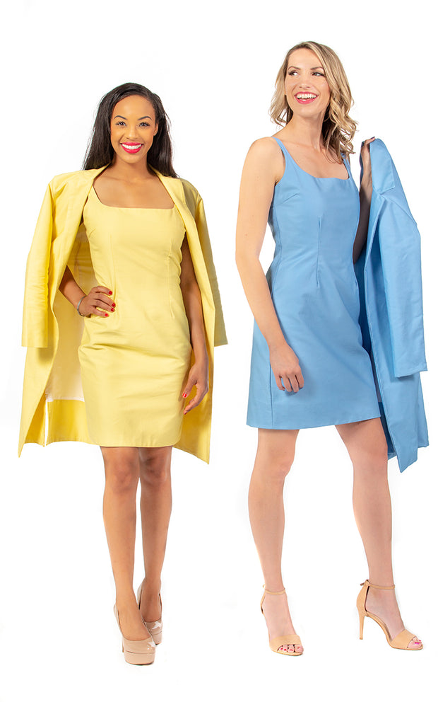 Annette Dress and Jacket in Yellow