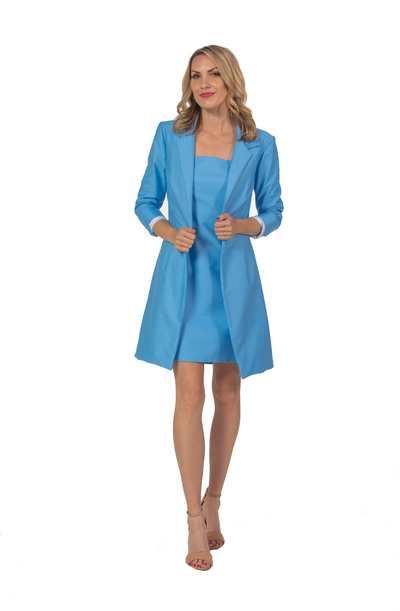 Annette Dress and Jacket in Baby Blue