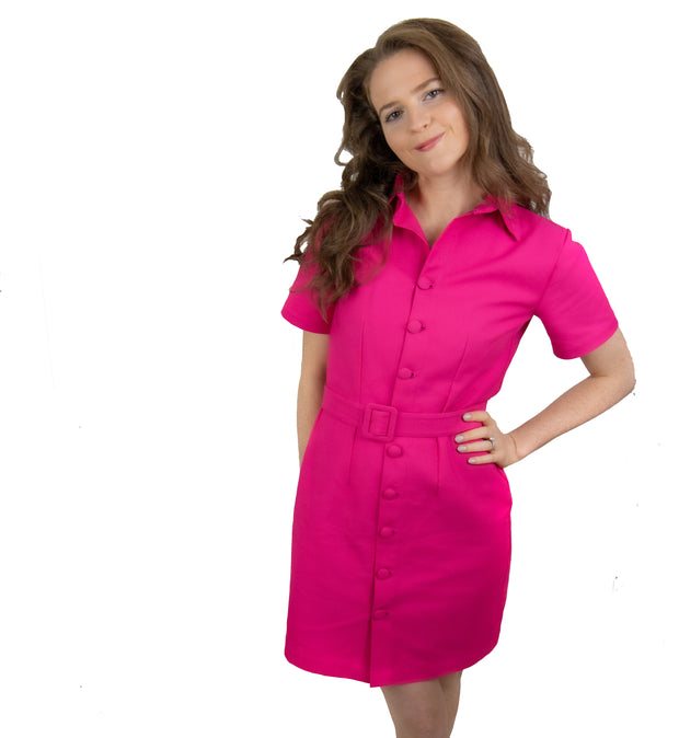 The Houston Dress in Hot Pink