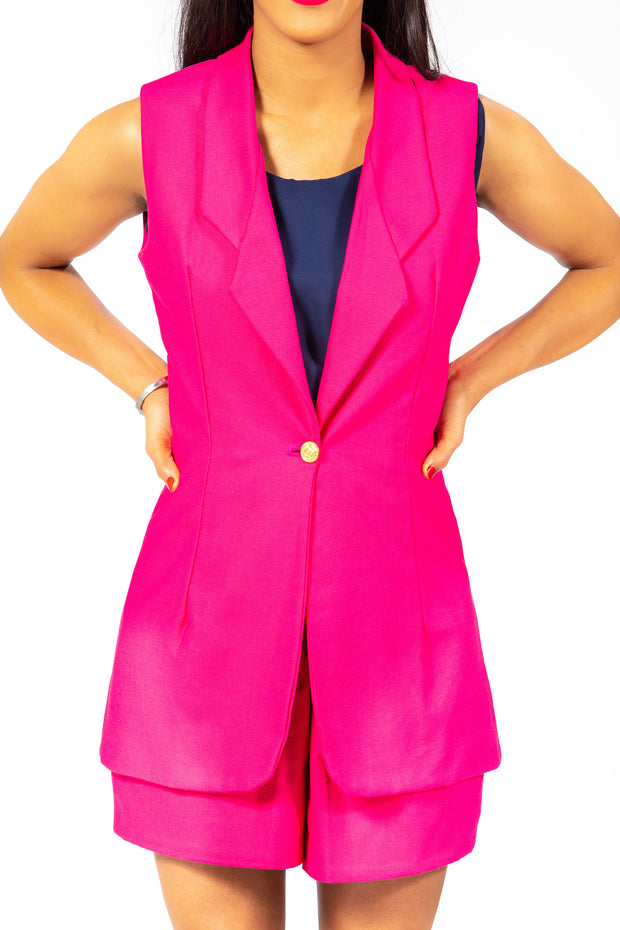Short Suit in Hot Pink