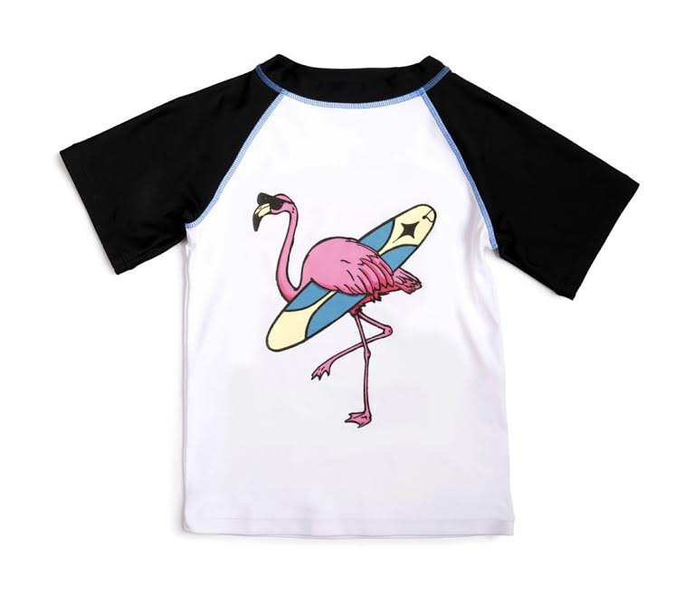 Flamingo Short Sleeve Rash Guard
