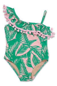One Shoulder Palm Paradise - One Piece
