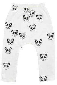 NoHo Jogger Pants - All Over Panda Black Ink - White