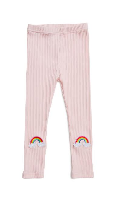 Rainbow Leggings- Blush