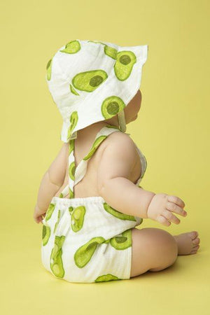 Avocado Muslin Retro Sunsuit