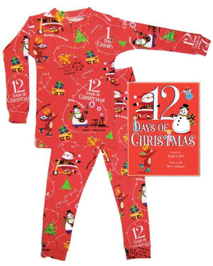 12 Days Of Christmas Book & Ribbon Set