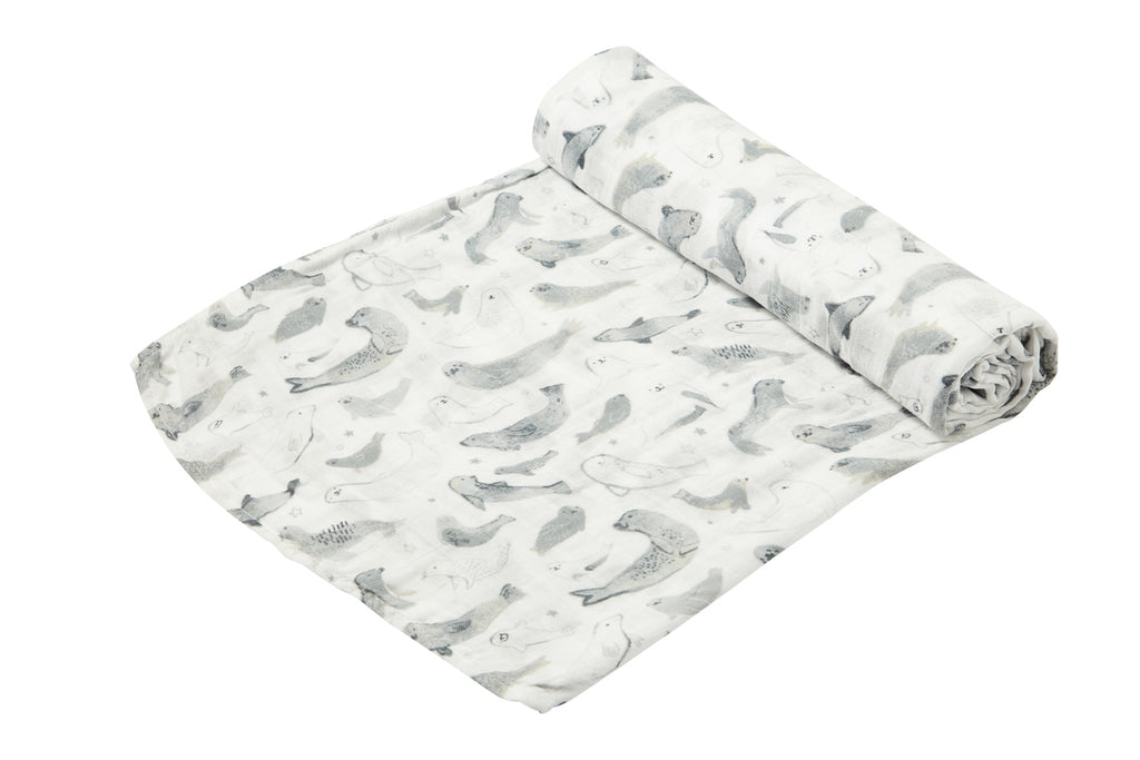 SEALS MUSLIN SWADDLE BLANKET